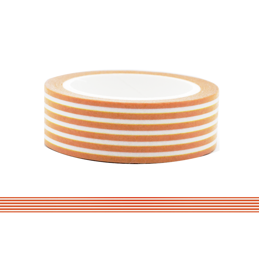 Colorful Line Washi Tape - Brown
