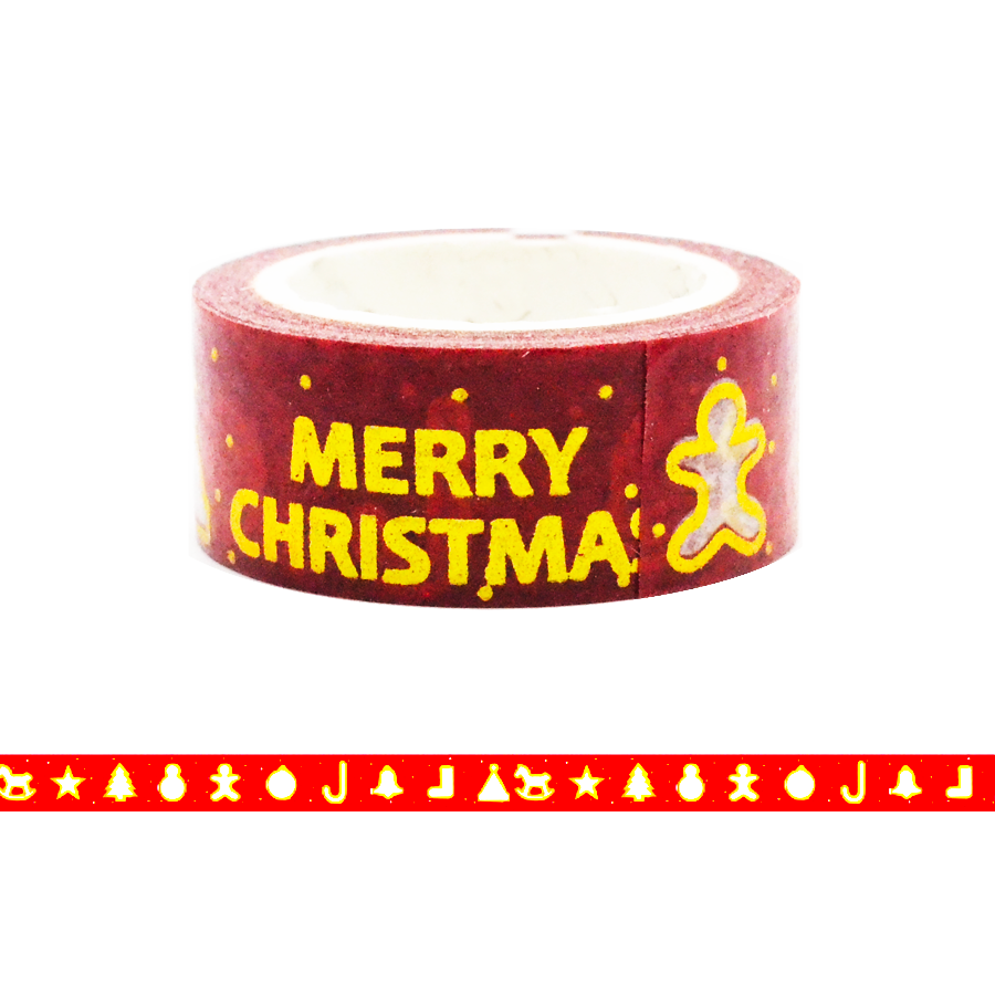 Merry Christmas Washi Tape - Ginger Bread Man