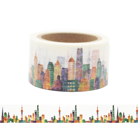 Colorful City Washi Tape