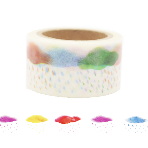 Colorful Clouds Washi Tape