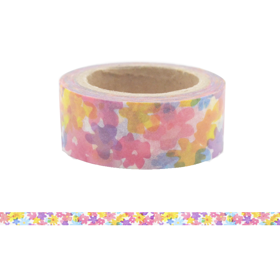 Colorful Japanese Floral Washi Tape