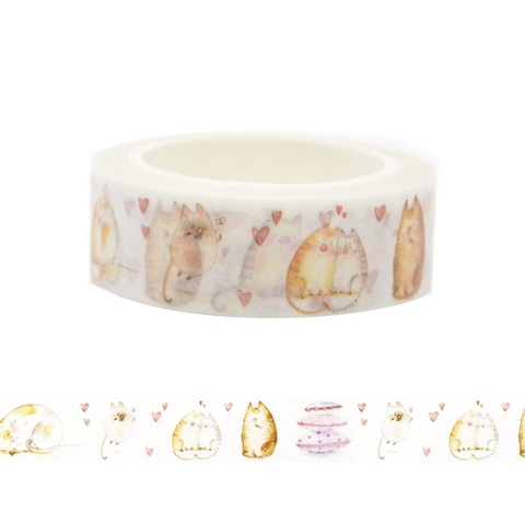 Cute Cats in Love Washi Tape