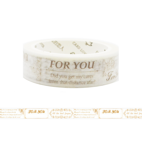 Greeting Washi Tape - For You