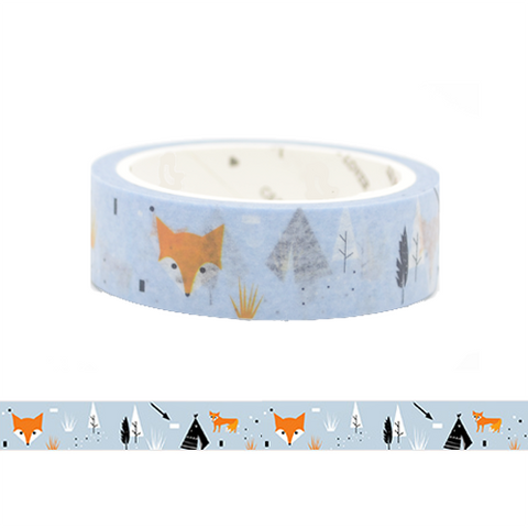 Fox in the Snow Mountain Washi Tape