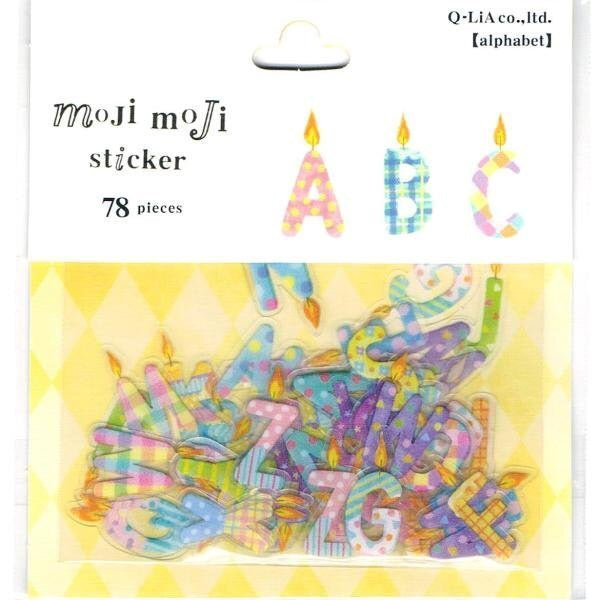 Q-Lia Moji Moji Alphabet Stickers - Happy Birthday Candles