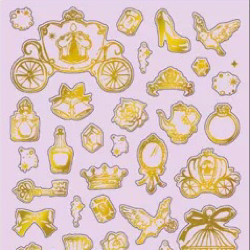 Mind Wave Gold Foil Stickers Series - Princess