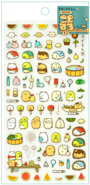 "SAN-X Sumikko Gurashi ""Things in the Corner"" Sticker Sheet Series - Watermelon Set 2"