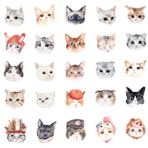 Cat Planet 3D Stickers