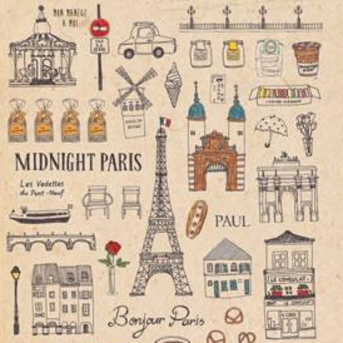 Suatelier France Paris Travel Stickers