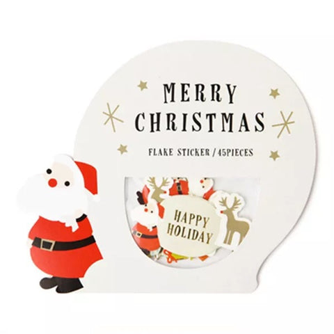 Merry Christmas Stickers - Santa Claus