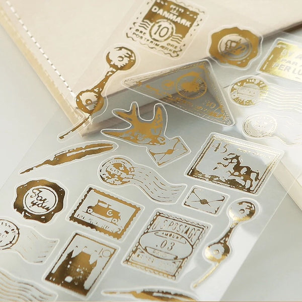 Gold Foil Stickers Series - Postage Stamp
