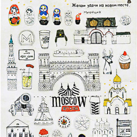 Suatelier Russia Moscow Travel Stickers