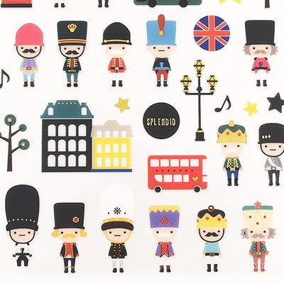 Suatelier England London Soldier Stickers
