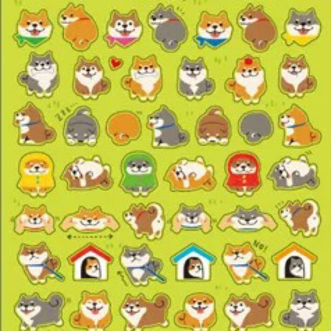 Mind Wave Shiba Inu Dog Mini Stickers