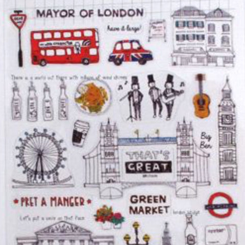 Suatelier England London Travel Stickers