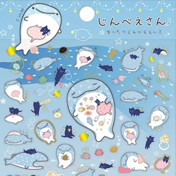 Jinbee-San Mr Whale Shark Stickers Set 2
