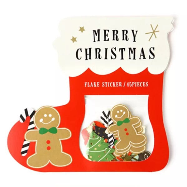 Merry Christmas Stickers - Gingerbread Man