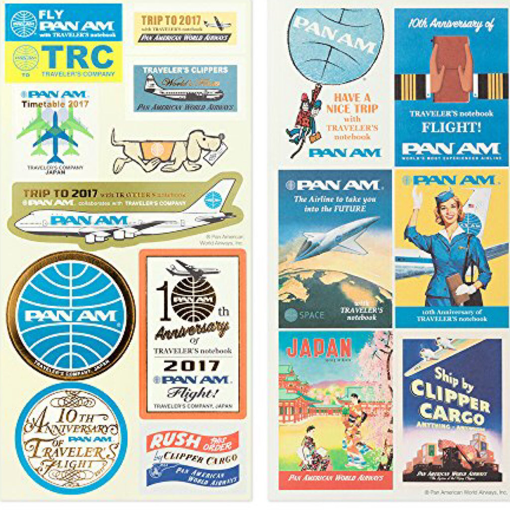 TRAVELER'S COMPANY PAN AM 2017 sticker set (6 Sheets)