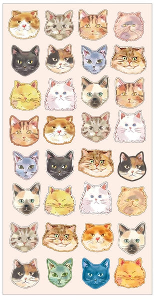 Mind Wave Cat Facial Expression Stickers