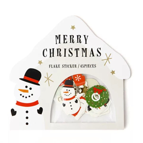 Merry Christmas Stickers - Snowman