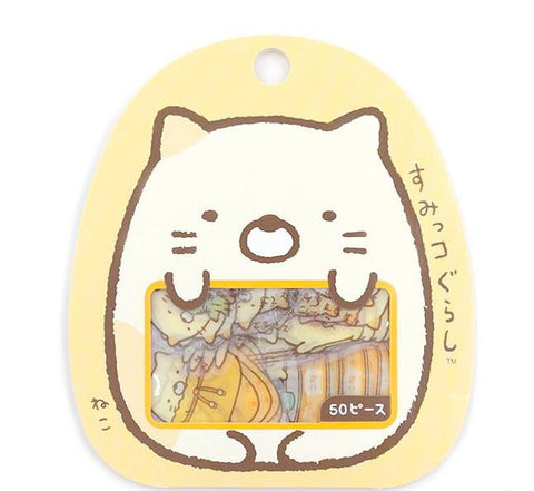 "SAN-X Sumikko Gurashi ""Things in the Corner"" 50-Piece Sticker Series - Cats"