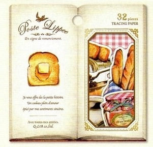 Q-Lia Poste Lippe Tracing Paper Stickers - Bread & Toasts