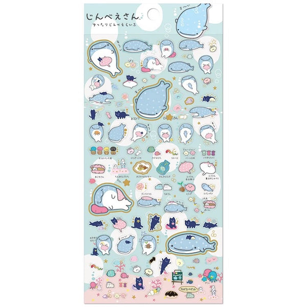 Jinbee-San Mr. Whale Shark Stickers Set 1