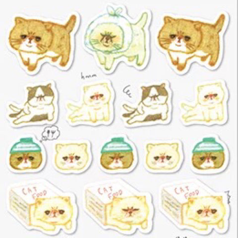 Q-Lia Yuru Maste Cat Stickers