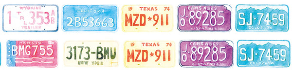 License Plate Washi Tape