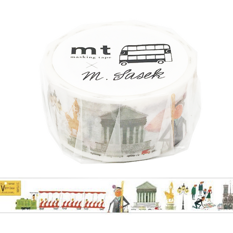 mt artist - Miroslav Sasek, This is Paris - Scrapbook Washi Tape