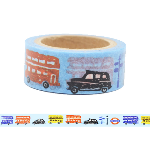 England London Buses & Taxi Washi Tape