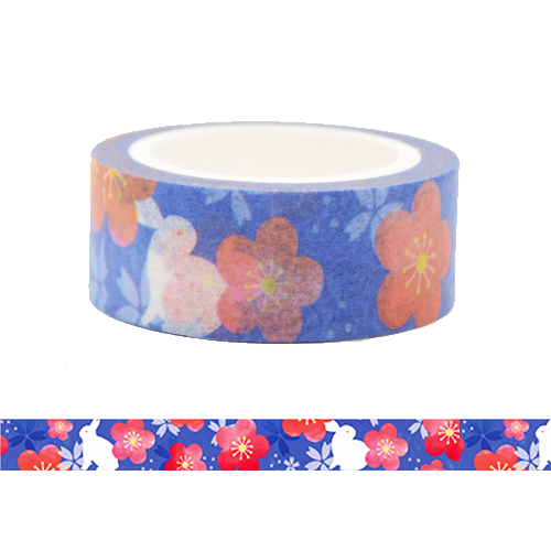 Rabbit under a Night Scene Washi Tape (Blue)