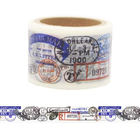 ST8 Postage Stamp Washi Tape for Scrapbook