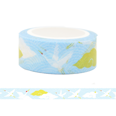 Swan Flying in the Sky Washi Tape