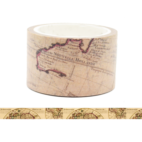 Travelling Map Washi Tape