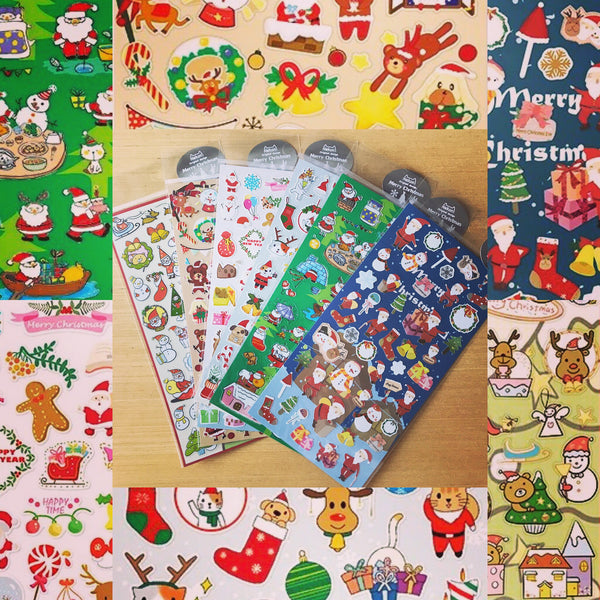 Merry Christmas Washi Tape - Xmas Bundle (6 Stickers Pack)