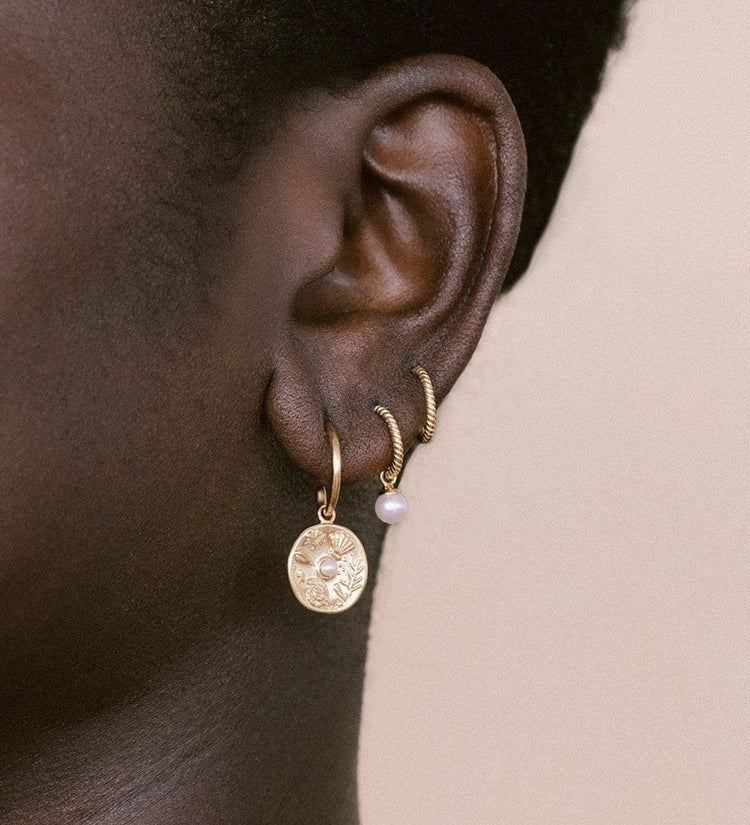 BY THE SEA HOOPS (18K-GOLD-PLATED)