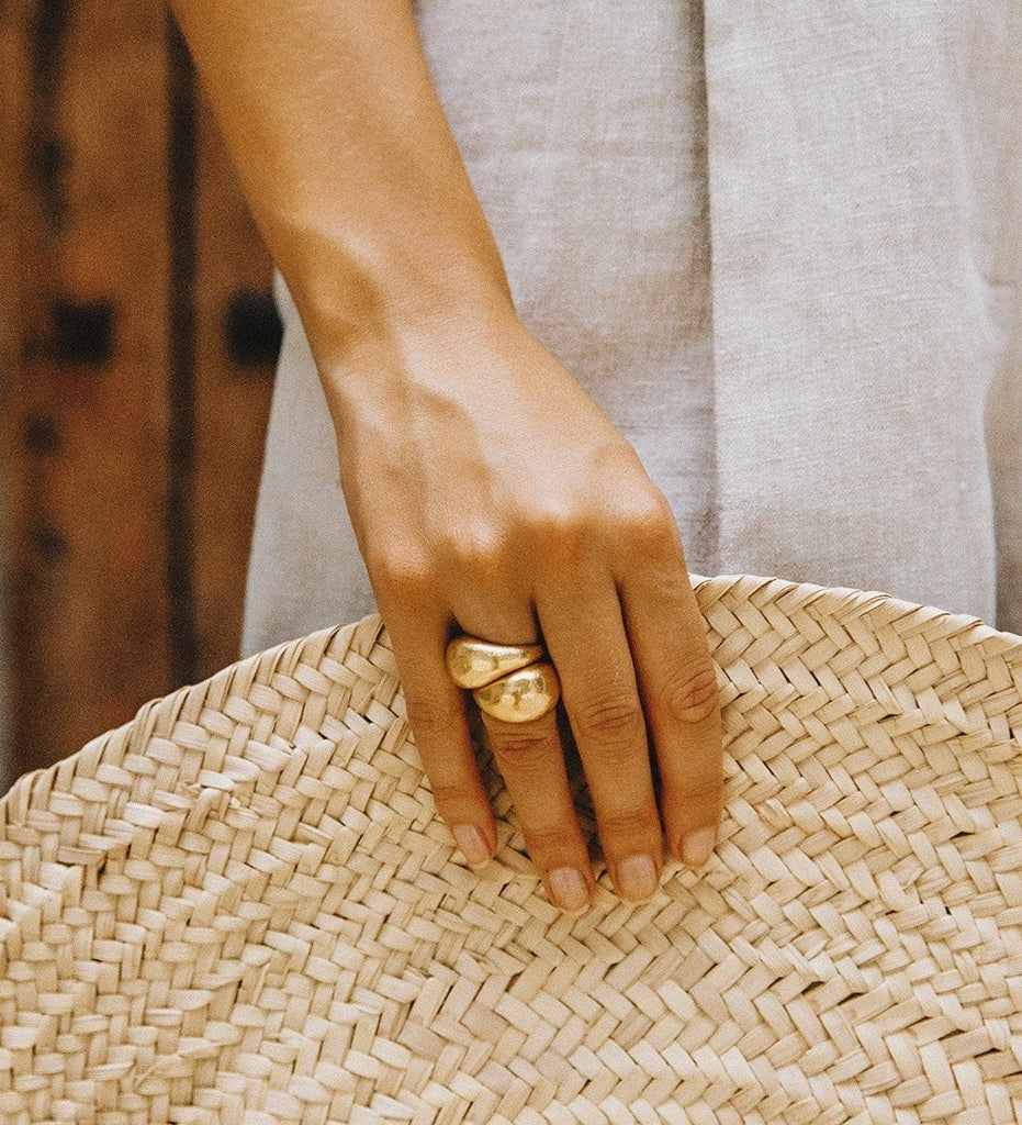 GOLDEN LIGHT DOME RING (18K-GOLD-VERMEIL)