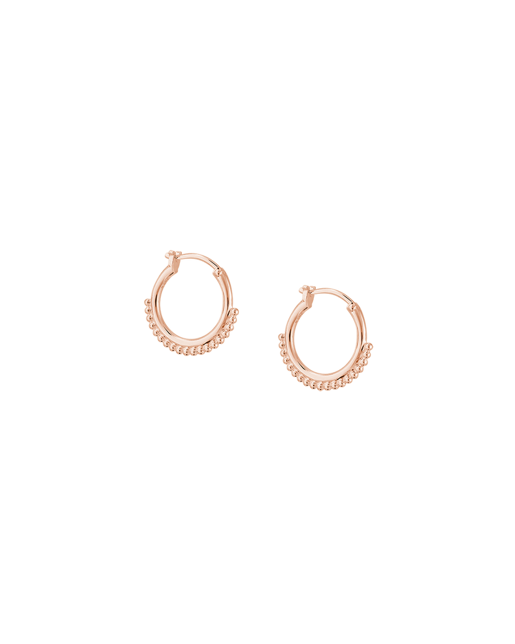 DETAIL HOOP EARRINGS (18K-ROSE GOLD-PLATED) Image 01