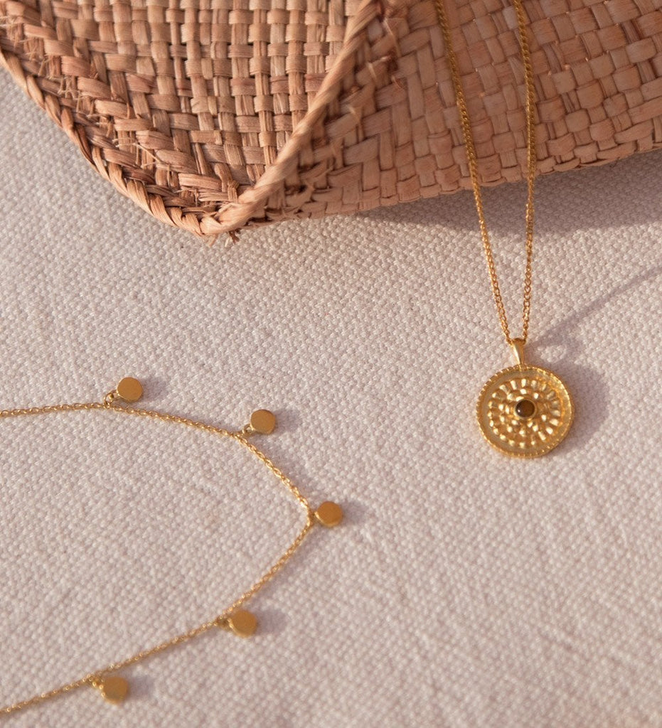 TRAVEL STORIES NECKLACE (18K-GOLD-PLATED)