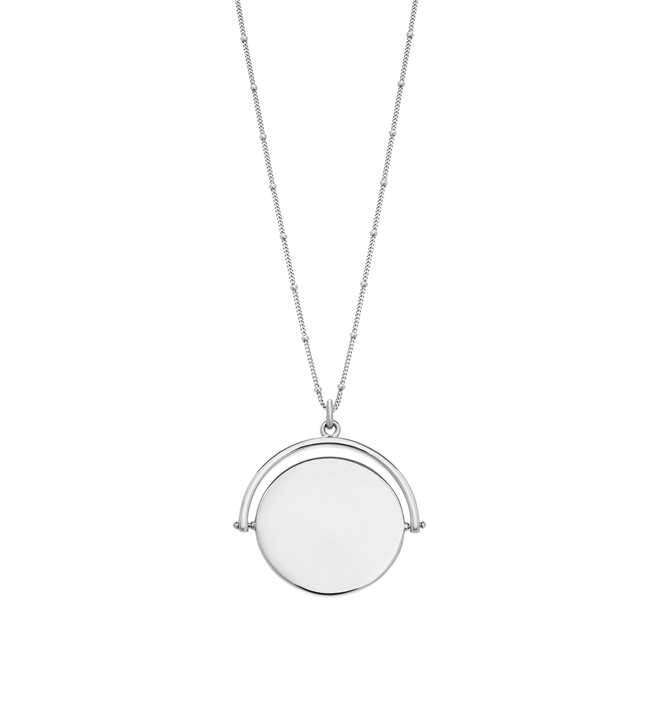 ISLAND PALM SPINNER NECKLACE (STERLING SILVER)