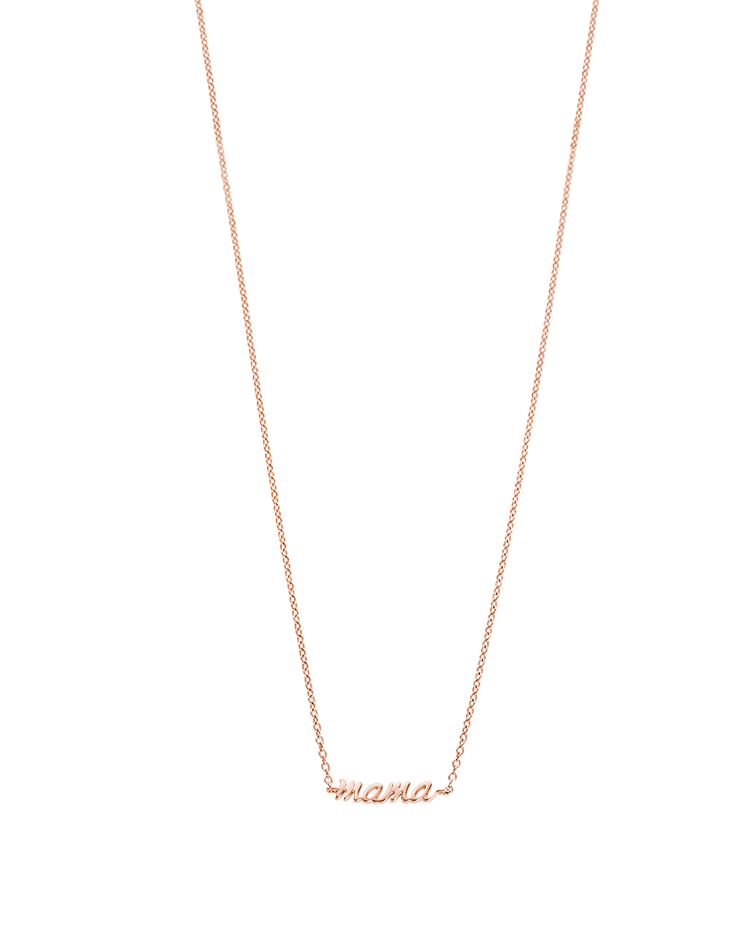 MAMA NECKLACE (18K-ROSE GOLD-PLATED) Image 01