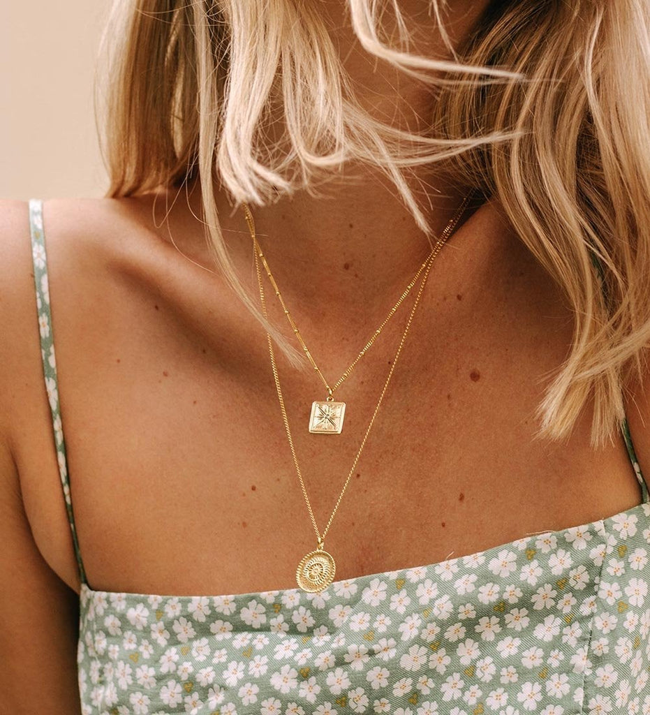 TRUE NORTH COIN NECKLACE (18K-ROSE GOLD-VERMEIL)