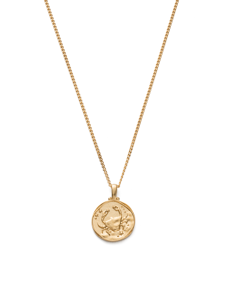 CANCER ZODIAC NECKLACE (18K-GOLD-VERMEIL)