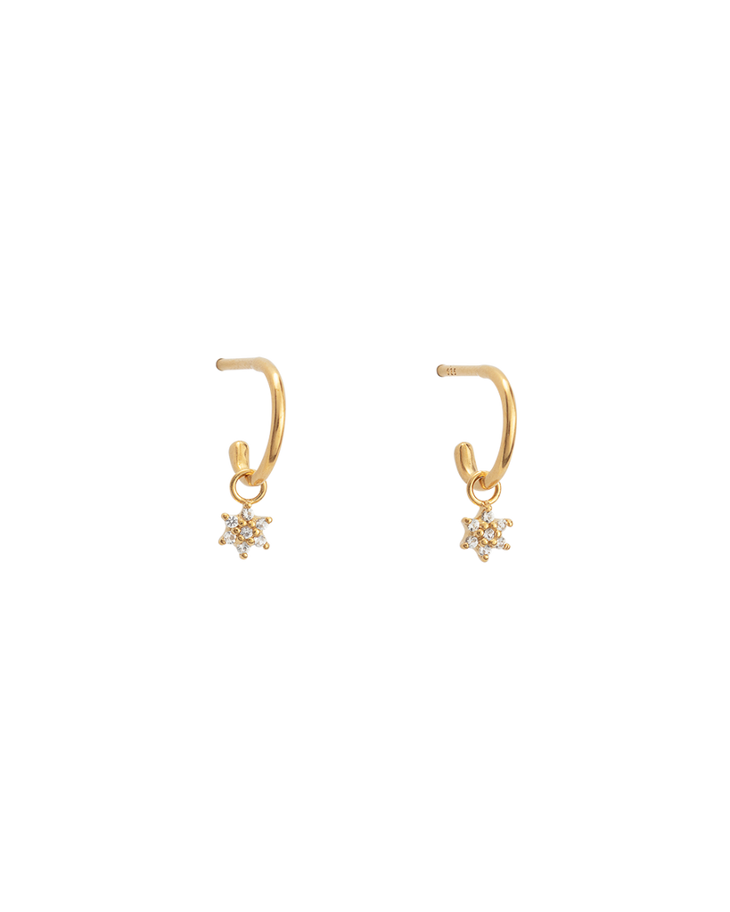 CRYSTAL FLOWER HOOPS (18K-GOLD-PLATED)-FRONT