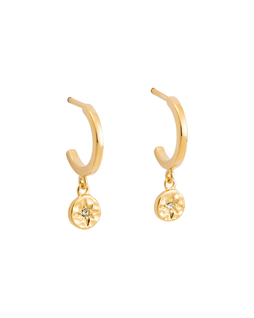 8fdd014e1 STAR COIN HOOPS (18K-GOLD-PLATED) – Kirstin Ash (United States)