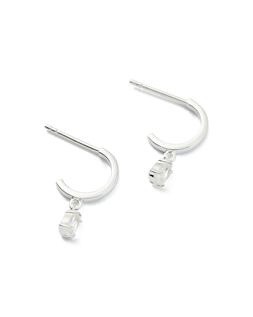 TEARDROP HOOPS (STERLING-SILVER) - 02