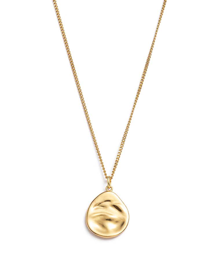 TIDAL TEARDROP NECKLACE (18K-GOLD-VERMEIL)