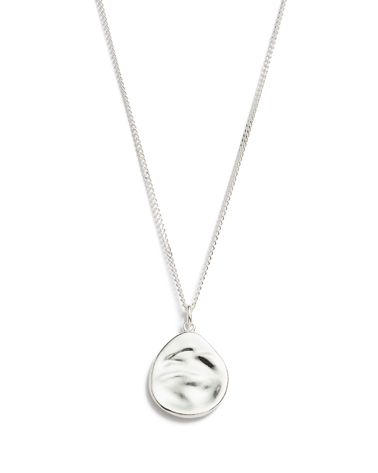 TIDAL TEARDROP NECKLACE (STERLING SILVER)