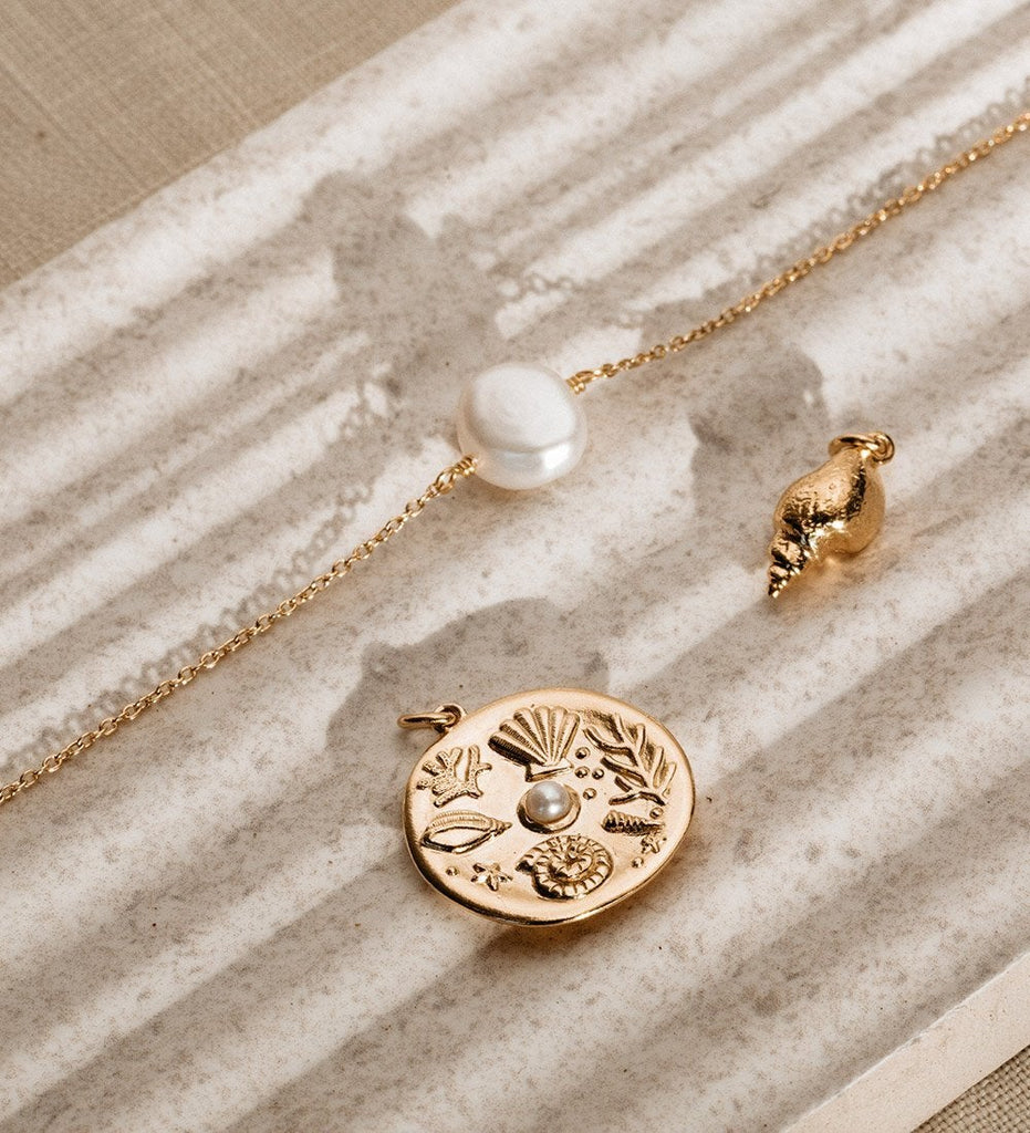 BY THE SEA COIN (18K-ROSE GOLD-VERMEIL)